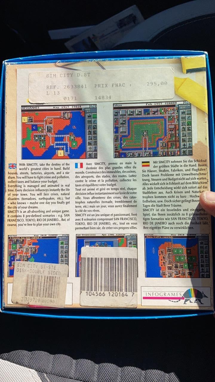 [RECH]notice jeu Sim city Atari st  66d3d510