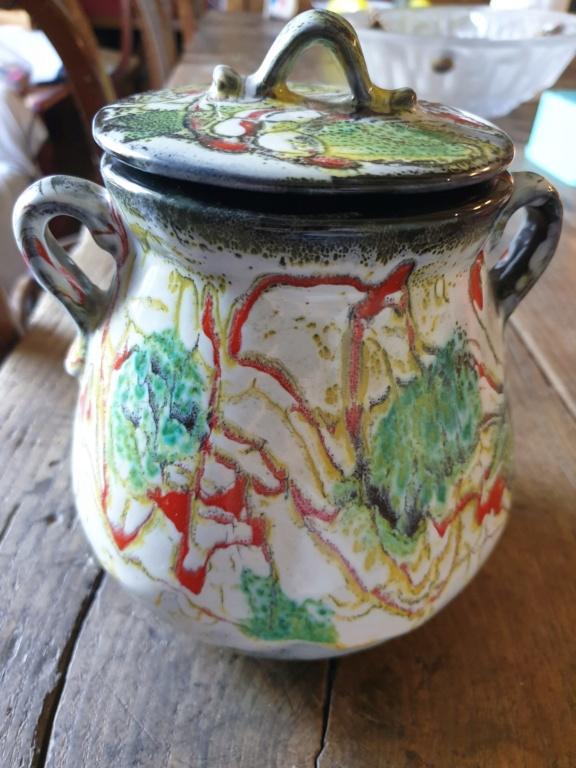 ID French studio pot; very unusual multi-coloured glaze - Vallauris? 16236510