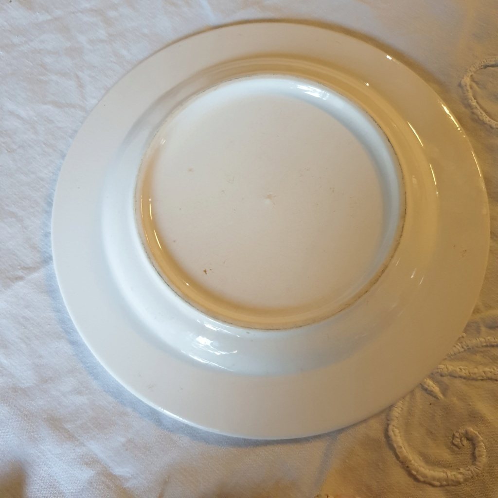 French /chinoiserie hand painted plate signed S.C - Saint Clement??  20210721