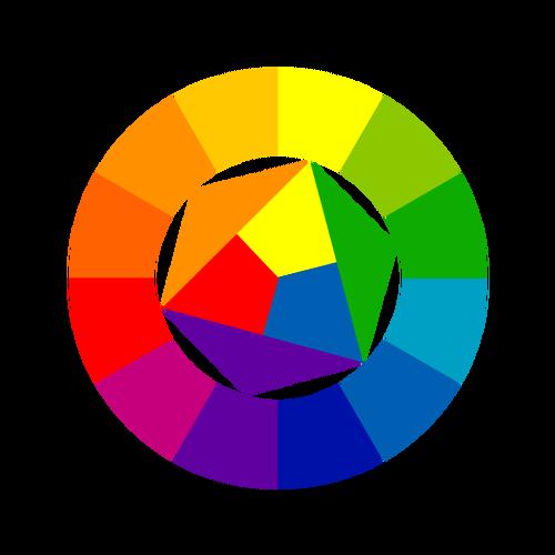 الدائرة اللونية والتباينات 12344-10