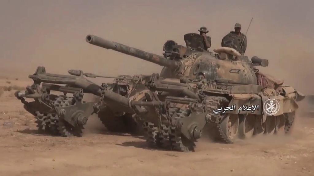T 55 A avec KMT5 en Syrie Djnkyz11