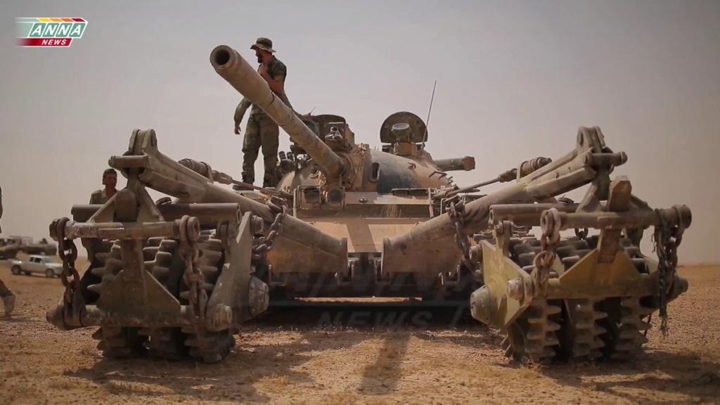 T 55 A avec KMT5 en Syrie Djrwf710