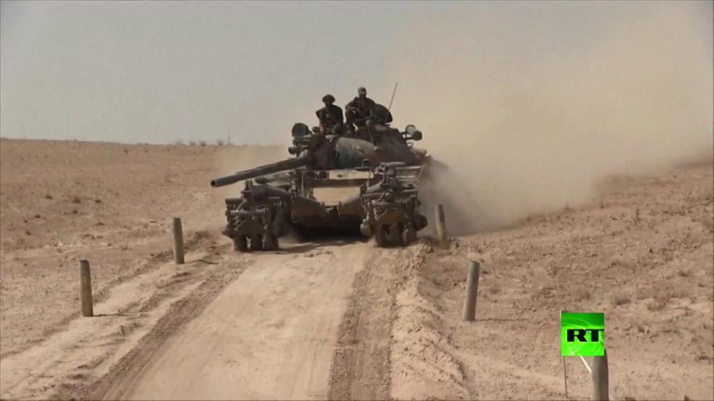 T 55 A avec KMT5 en Syrie Qqq11