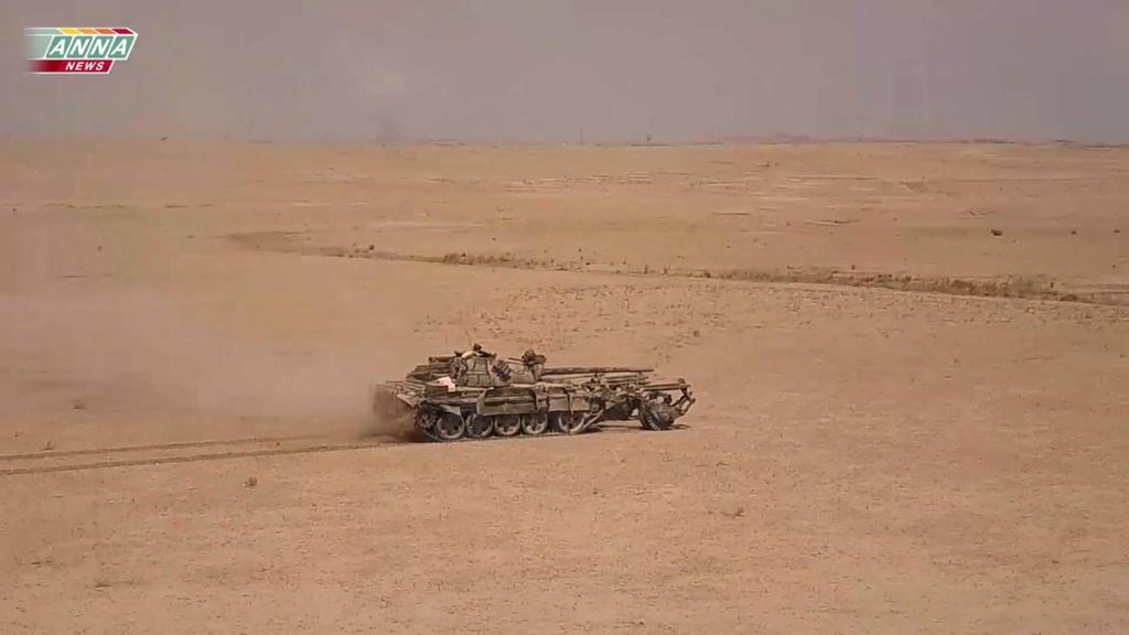 T 55 A avec KMT5 en Syrie Sans-t11