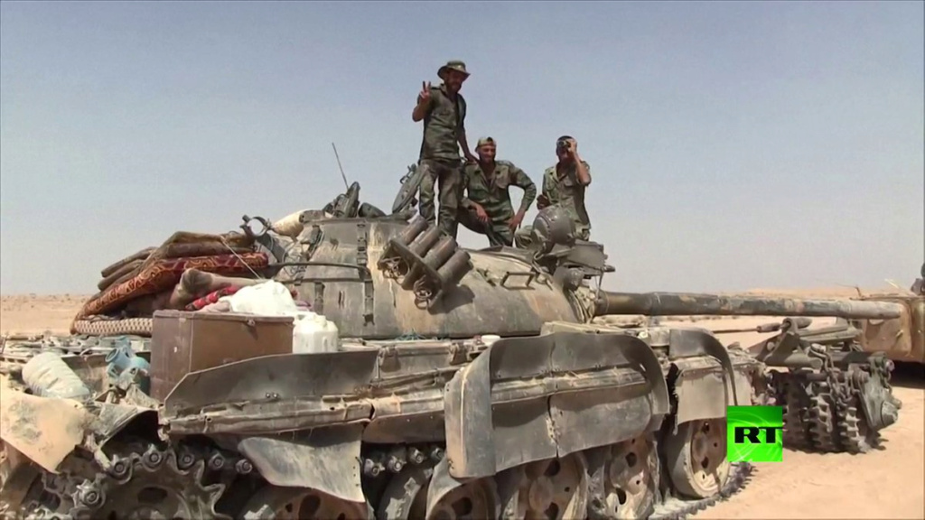 T 55 A avec KMT5 en Syrie Sans-t13
