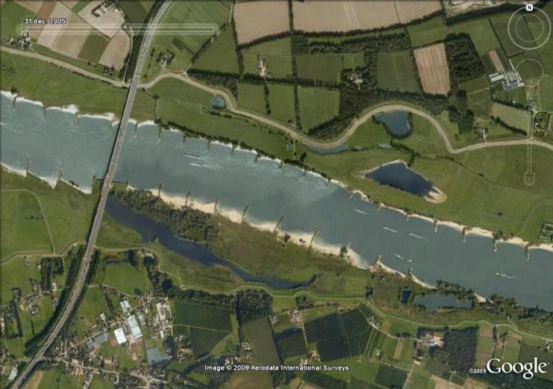 Crues et innondations observées dans Google Earth Rhin_110
