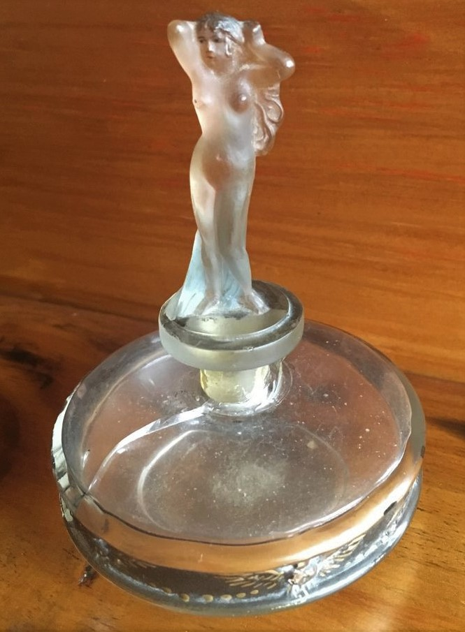Small art nouveau perfume bottle  Perfum10