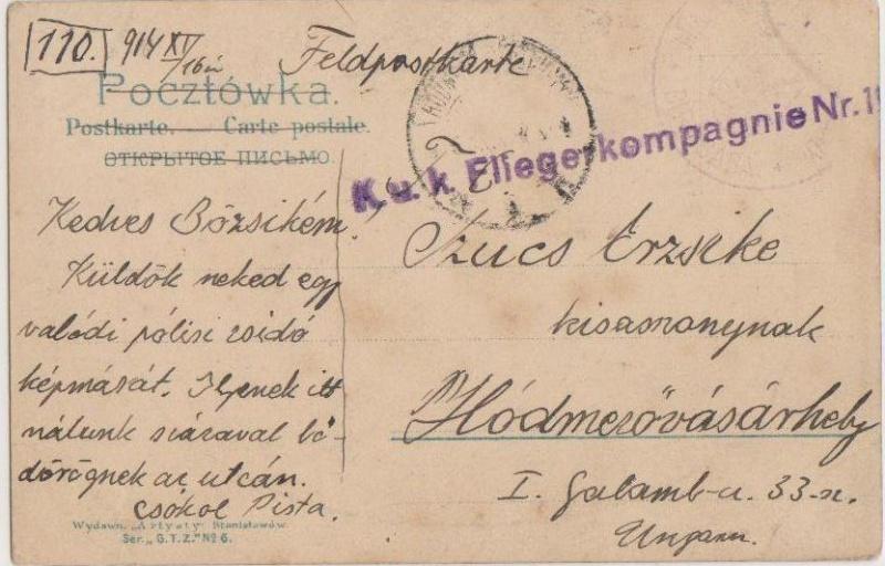 Fliegerpost Przemysl 1914-1918 Przemy11