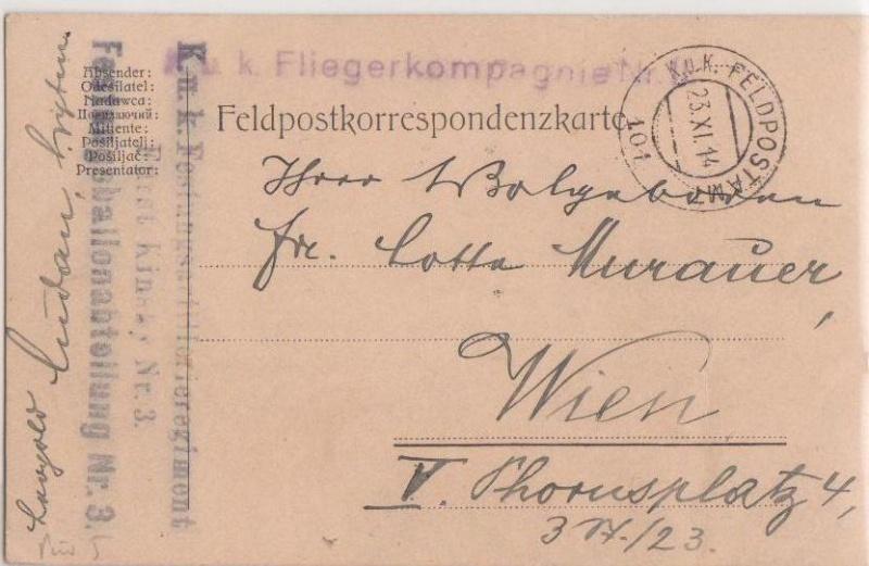 Fliegerpost Przemysl 1914-1918 Przemy13