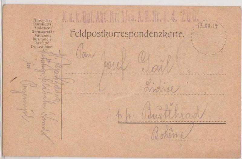 Fliegerpost Przemysl 1914-1918 Przemy14