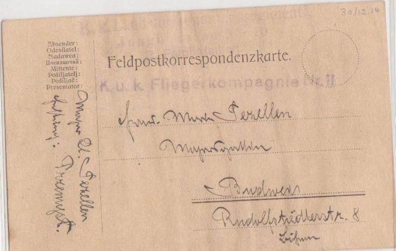 Fliegerpost Przemysl 1914-1918 Przemy15