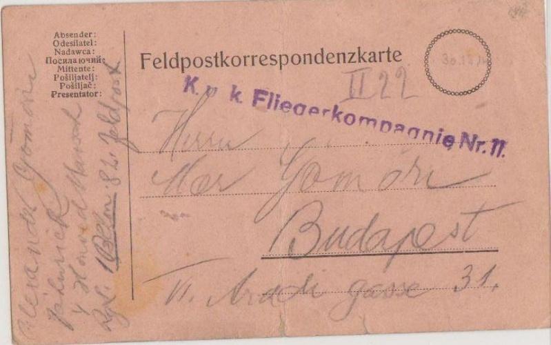 Fliegerpost Przemysl 1914-1918 Przemy16