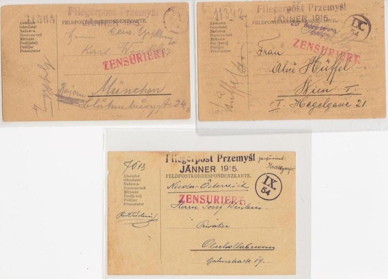 Fliegerpost Przemysl 1914-1918 Przemy18