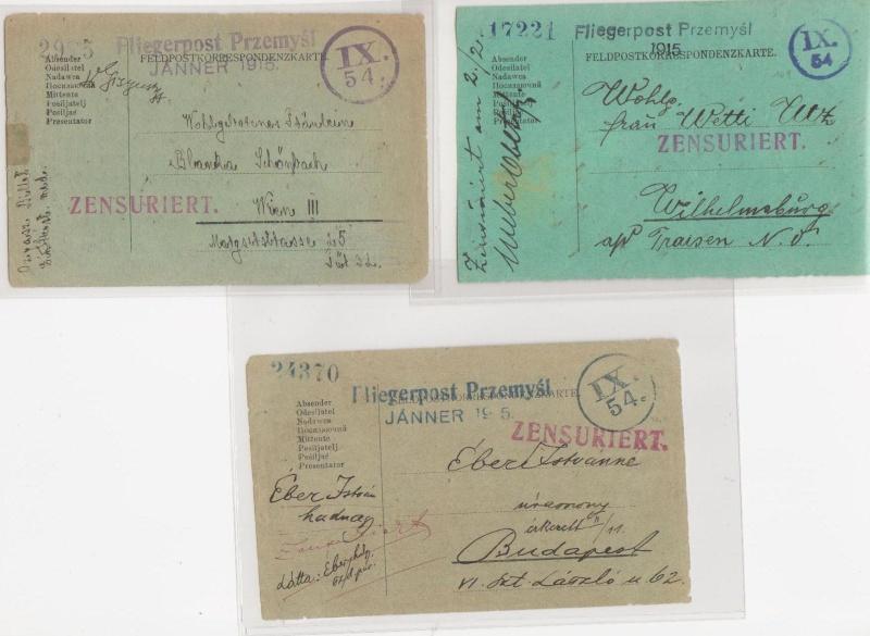 Fliegerpost Przemysl 1914-1918 Przemy19