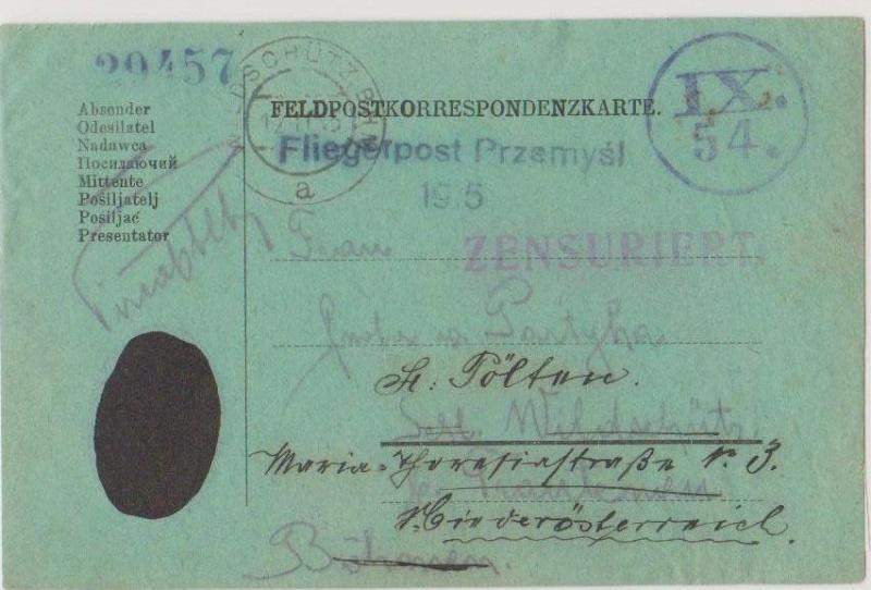 Fliegerpost Przemysl 1914-1918 Przemy20