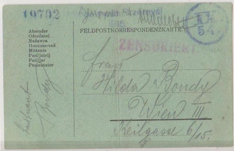 Fliegerpost Przemysl 1914-1918 Przemy21