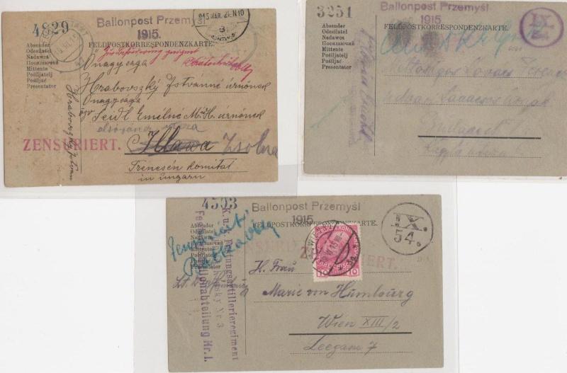 Fliegerpost Przemysl 1914-1918 Przemy25