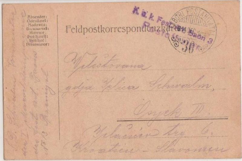 Fliegerpost Przemysl 1914-1918 Przeym10