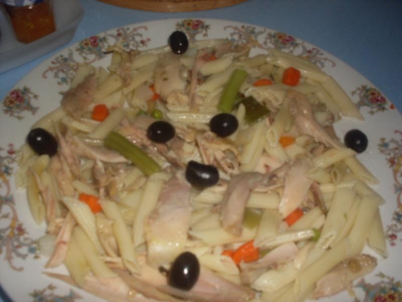 pâte aux petits légumes et au  poulet Fougas14