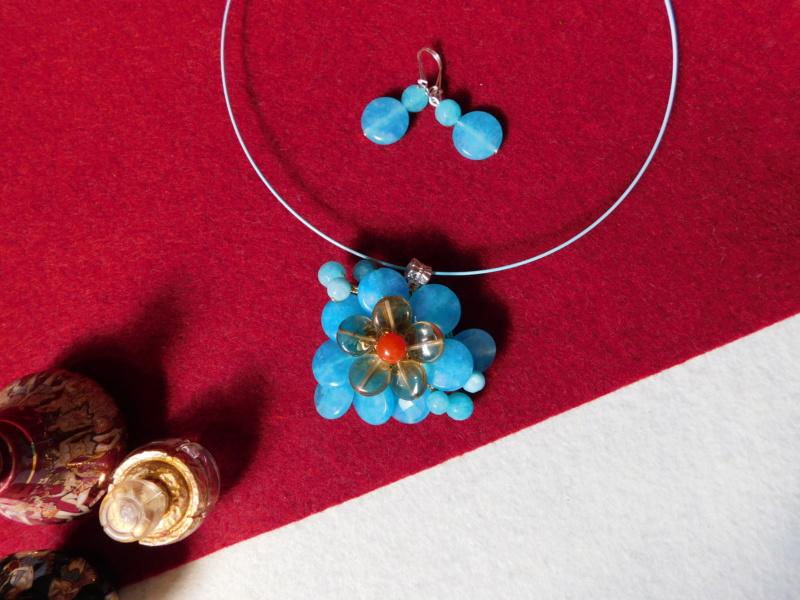 """""""Flori de piatră-Bijoux"""" albumul II-bijuterii artizanale marca Didina Sava - Pagina 8 Colier16"""