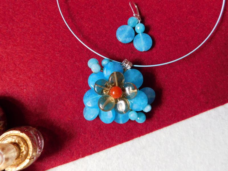 """""""Flori de piatră-Bijoux"""" albumul II-bijuterii artizanale marca Didina Sava - Pagina 8 Colier17"""