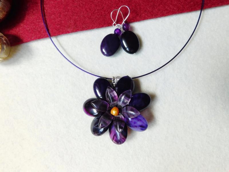 """""""Flori de piatră-Bijoux"""" albumul II-bijuterii artizanale marca Didina Sava - Pagina 8 Colier19"""