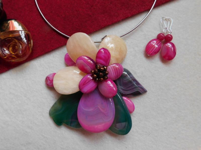 """""""Flori de piatră-Bijoux"""" albumul II-bijuterii artizanale marca Didina Sava - Pagina 2 Colier34"""