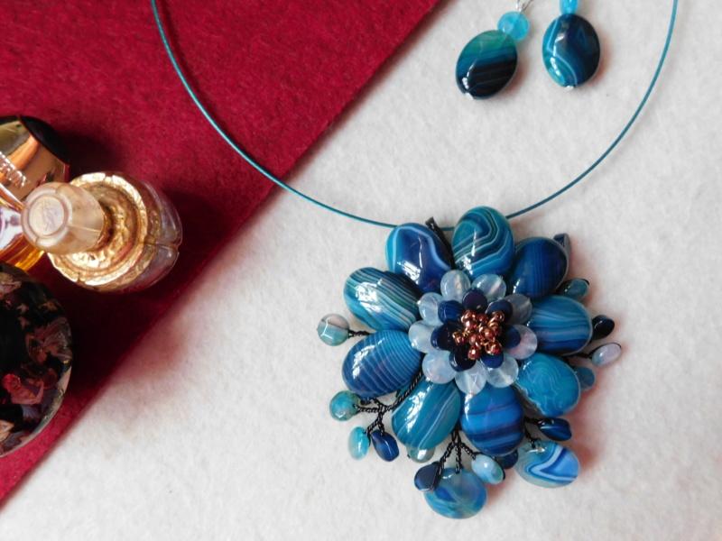 """""""Flori de piatră-Bijoux"""" albumul II-bijuterii artizanale marca Didina Sava Colier43"""