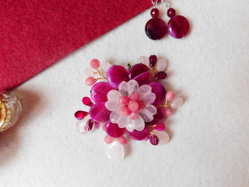 """""""Flori de piatră-Bijoux"""" albumul II-bijuterii artizanale marca Didina Sava Colier51"""
