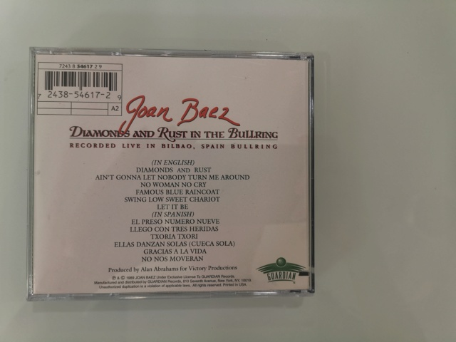 CD Joan Baez - Diamonds And Rust In The Bullring (New) FIRST PRESS. Price Reduced!!! Img_2121