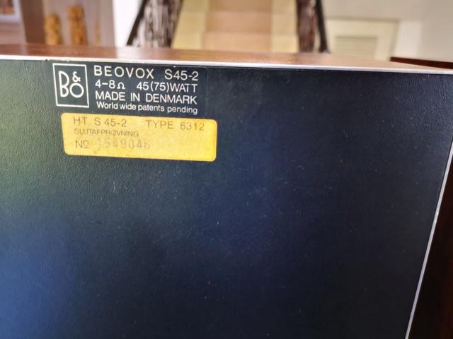 RARE!! Bang & Olufsen Beovox S45 Mk2 Speaker (Used)  Img_2129