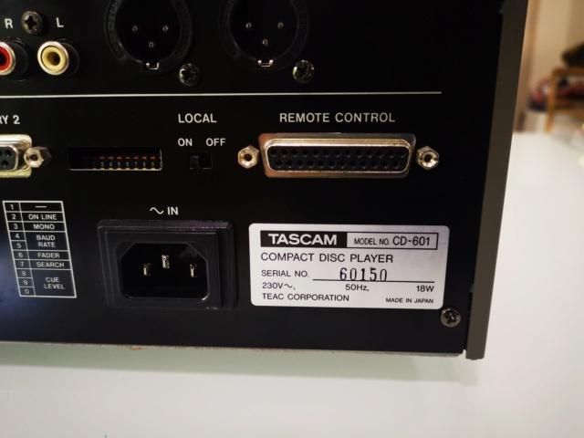 Tascam CD-601MKI Studio Broadcast CD Player (Used) Img_2211