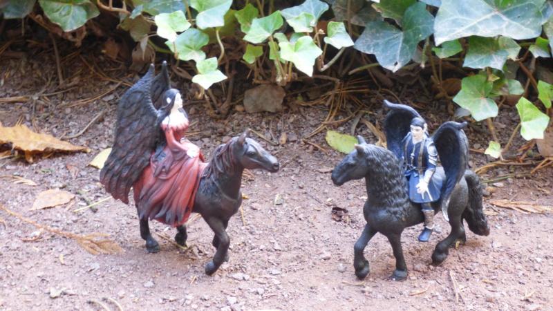 SCHLEICH : mes chevaux, mes dragons et autres figurines P1250712