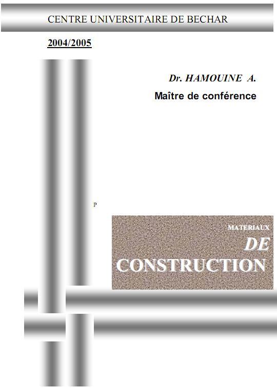 Matériaux de construction, centre universitaire de Béchar Materi10