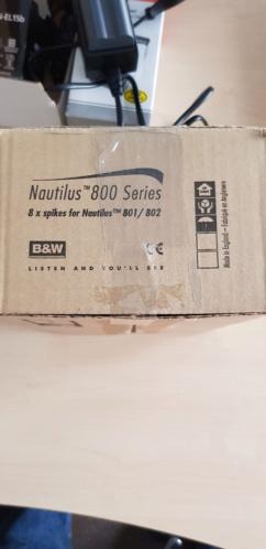 8 pcs Spikes for B&W nautilus 801/802 speakrs  20190720