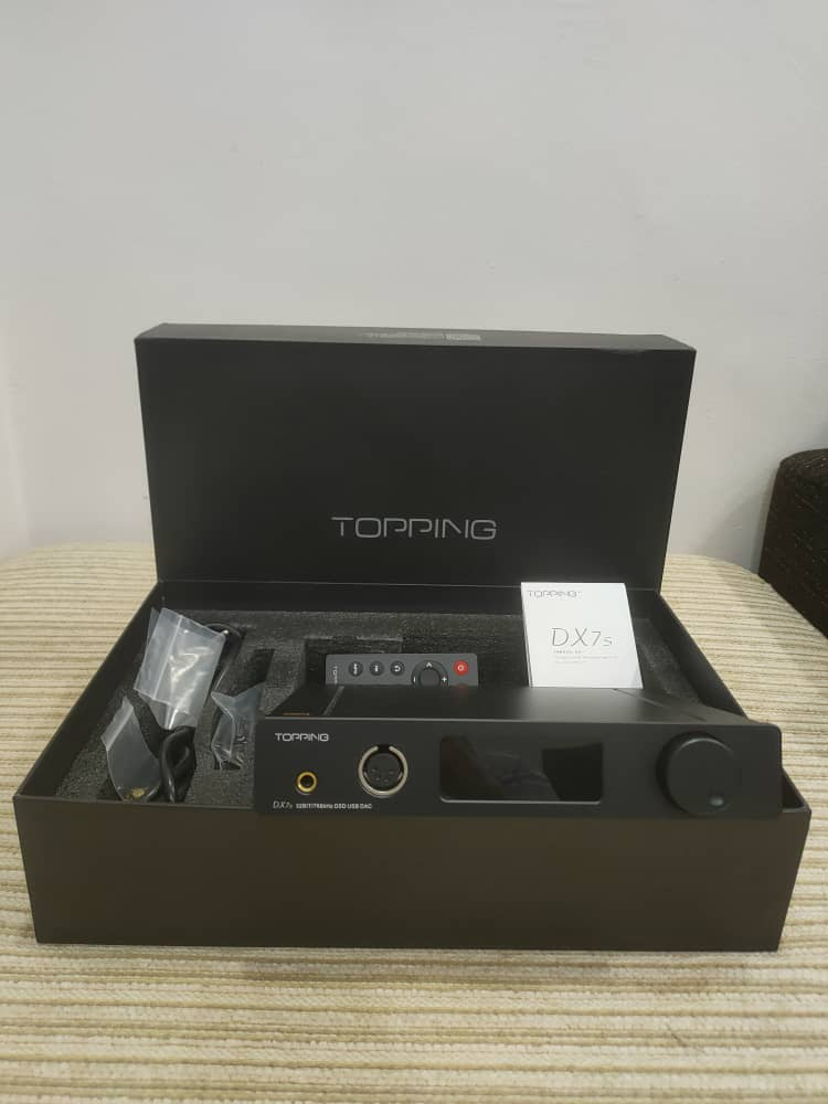Topping DX7s DAC /Headphone Amp c/w remote control (sold) Toppin10