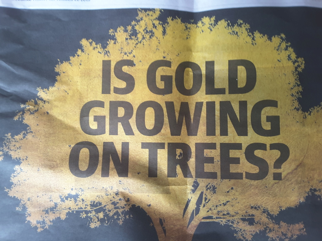 Is gold growing on trees. Advertiser 20 sept 20190910
