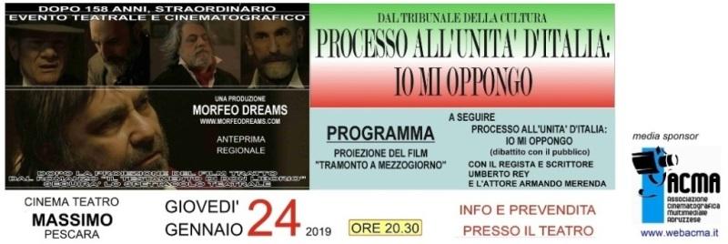 """Pescara. Anteprima regionale del film """"Tramonto a mezzogiorno"""" con il regista Um Banner10"""