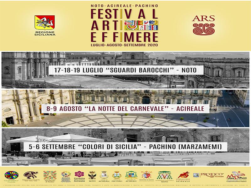 Festiva Arti Effimere -Tappa di Acireale - 8 agosto 2020 Locand14