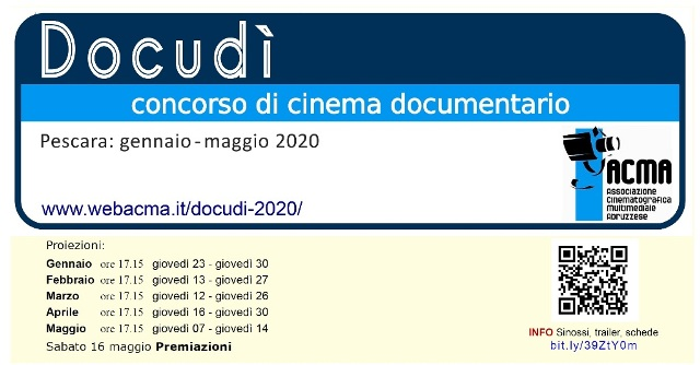DocudìConcorsoCinemaDocumentario - PESCARA concorso di cinema documentario - 11 appuntamenti Per_ev10