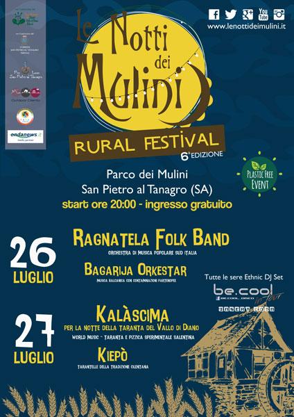 Le Notti dei Mulini Rural Festival | 26-27 luglio 2019 San Pietro al Tanagro SA Volant13