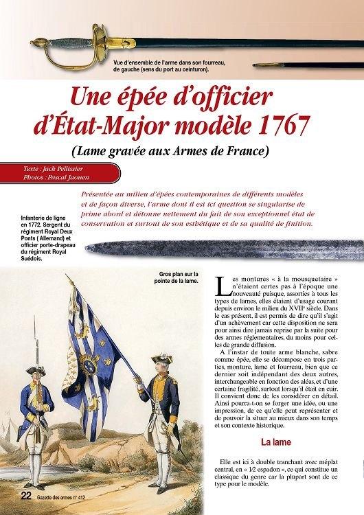 Épée d'un officier supérieur modèle en 1767 24585110