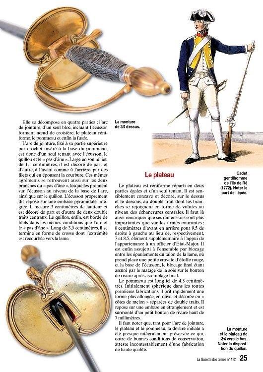Épée d'un officier supérieur modèle en 1767 24585113