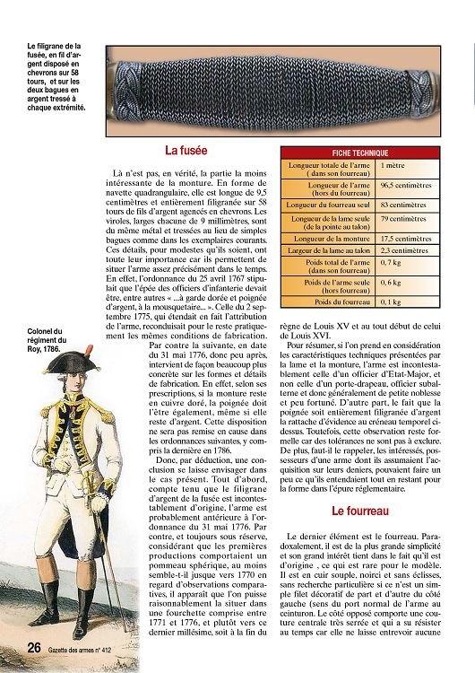 Épée d'un officier supérieur modèle en 1767 24585114