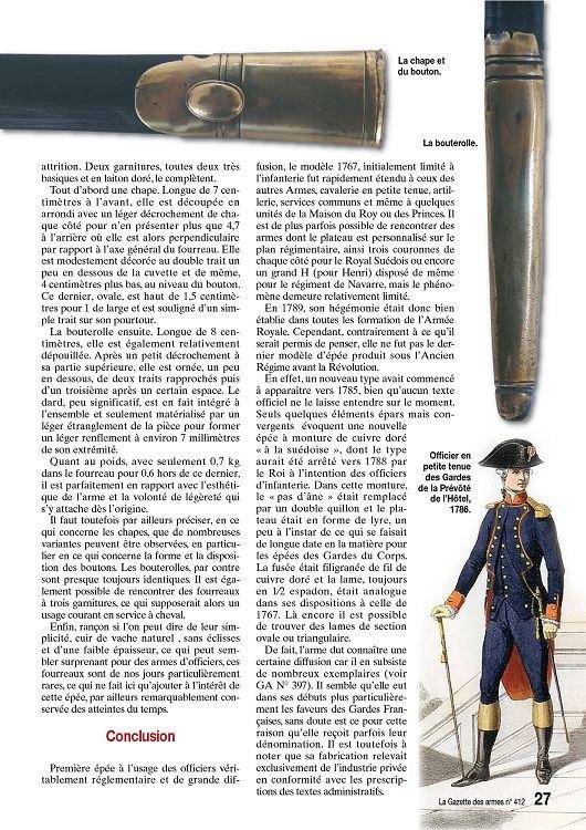 Épée d'un officier supérieur modèle en 1767 24585115