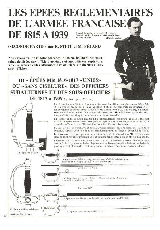 Deux épées d'un officier supérieur de la Garde nationale 27921-11