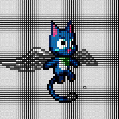 (Takumi) Mes créations Pixel Art Happy12