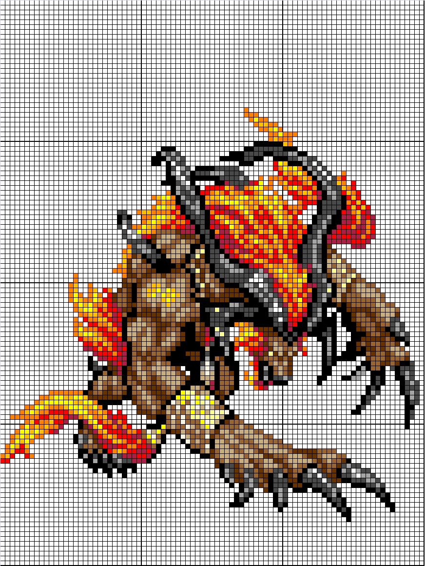 (Takumi) Mes créations Pixel Art Ifrit10