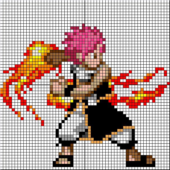 (Takumi) Mes créations Pixel Art Natsu10