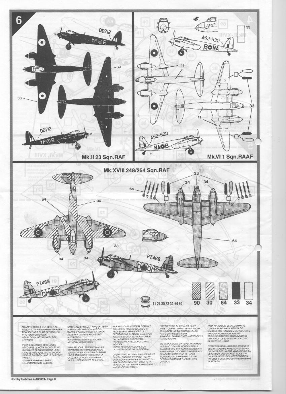 [Airfix] DH Mosquito Mk II VI XVIII 00110